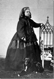 Queen Victoria in Mourning Dress