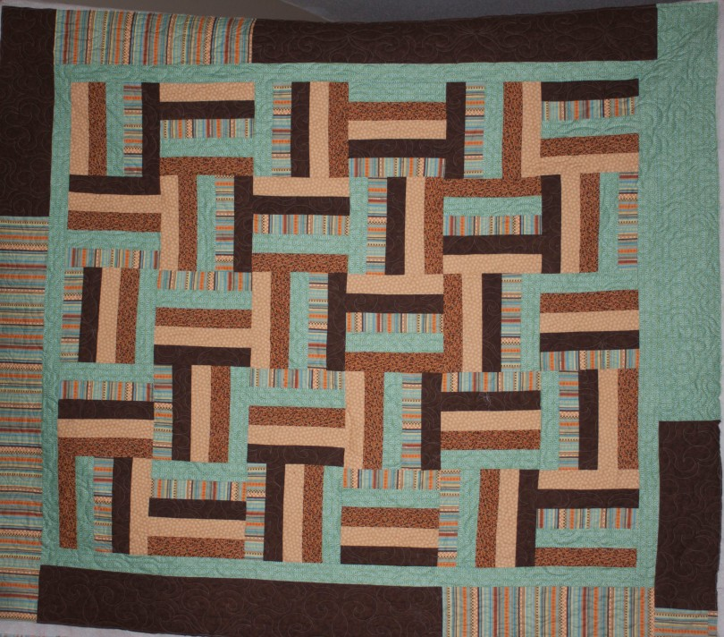 On the Longarm–Rail Fence – Lovelli Quilts
